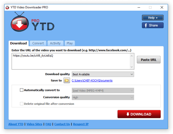 YTD Video Downloader Pro License Key