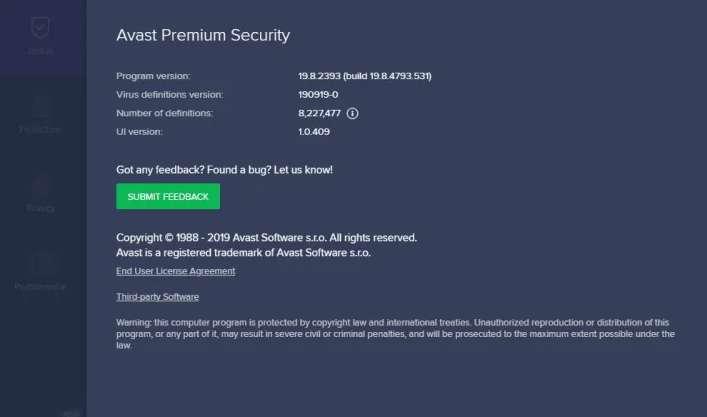 Avast Premier activation code till 2050