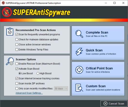 superantispyware professional registration code