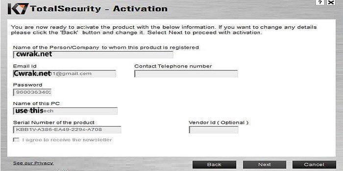 k7 total security offline activation file crack