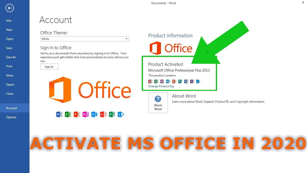 microsoft office 2020 crack Product key