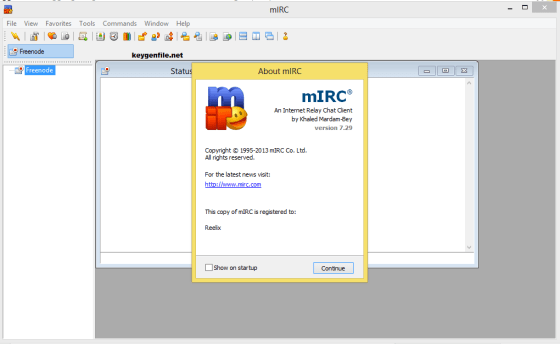 mirc registration code